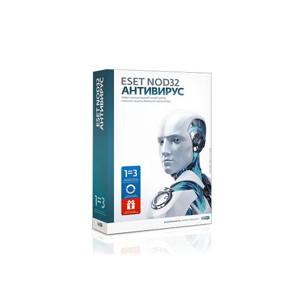 Антивирус NOD32, +Bonus, NOD32-ENA-1220(BOX)-1-1, подписка на 1 год/продл. на 20 мес, на 3 ПК, box