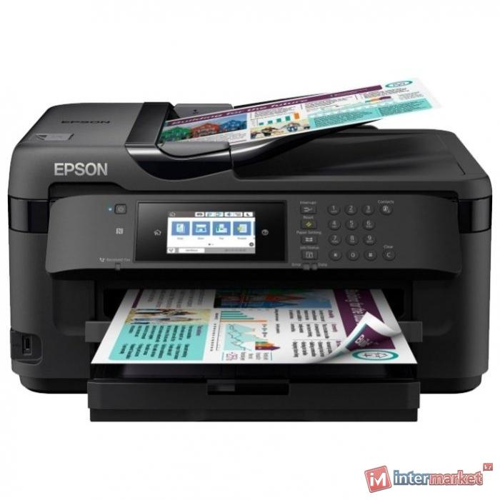 МФУ Epson WF-7710DWF C11CG36413 A3+, Печать:4800x2400dpi,Сканер:1200x2400dpi A3,Копир:1200x2400 dpi,Факс 1200x600dpi,USB