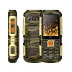 Мобильный телефон BQ-2430 Tank Power Камуфляж+Золото /