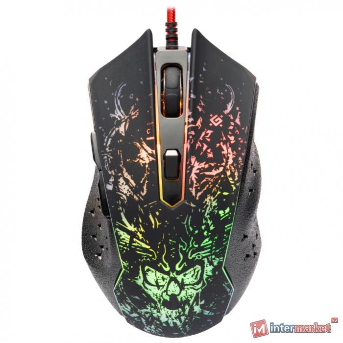 Мышь проводная игровая оптическая Defender Demoniac GM-540L оптика,6кнопок,3200dpi, НОВИНКА!
