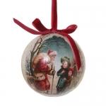 Шар Дед мороз и дети d8см